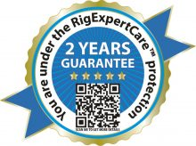 All sold RigExpert products are covered by 2-year warranty under RigExpertCareTM protection!