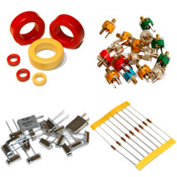 RF components, trimmers, quartz, metal clad capacitors and more.