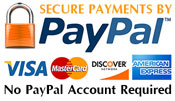 PayPal and credit cards accepted!